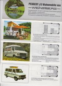 weinsberg peugeot j5 wohnmobil prospekt histoquariat. Black Bedroom Furniture Sets. Home Design Ideas