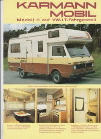 Wohnmobil Karmann Vw Lt Prospekt Histoquariat