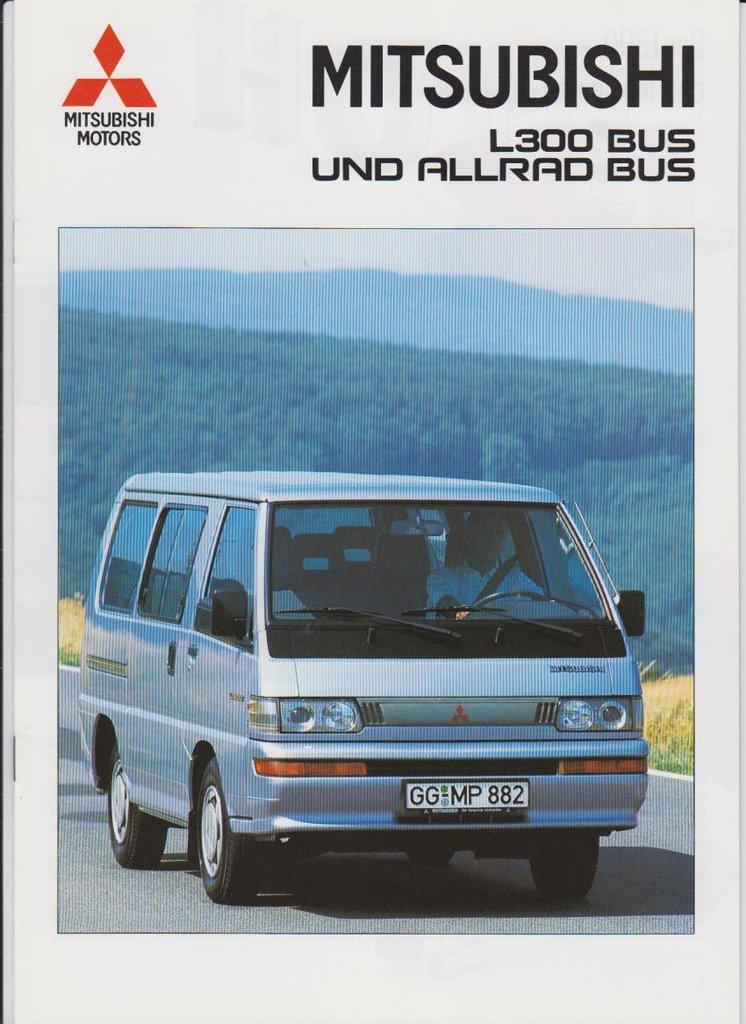Mitsubishi L300 Bus Allrad Bus Prospekt 347 Histoquariat