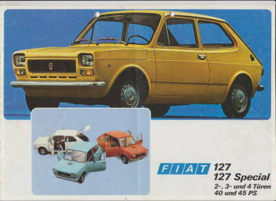 1976 fiat 127 autoprospekt histoquariat. Black Bedroom Furniture Sets. Home Design Ideas